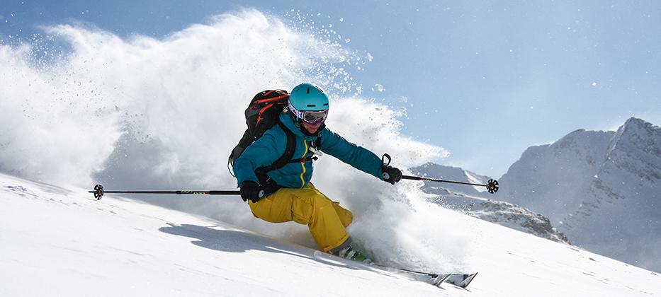Gebke Compeer tijdens een ski & snowboard Freeride week met Daniel Tomaschek